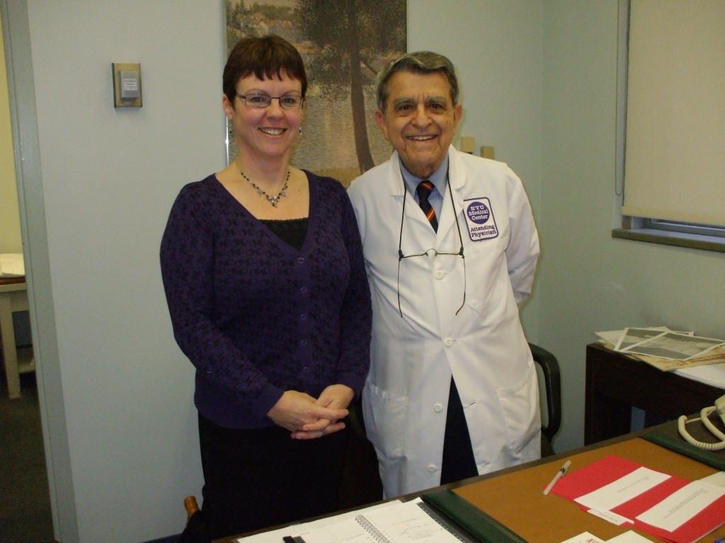 Georgie Oldfield with Dr. Sarno
