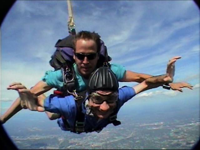 Pete sky diving