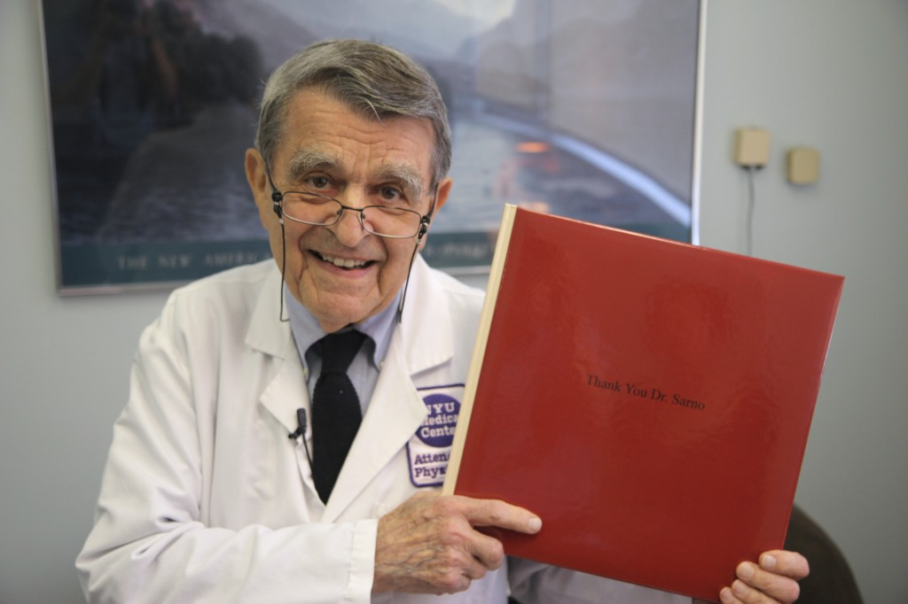 an image of Dr. Sarno with the Thank You book