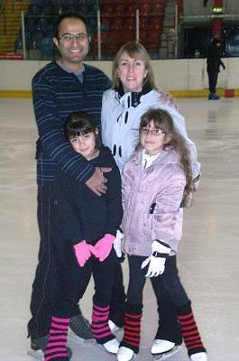 Panda at an ice rink